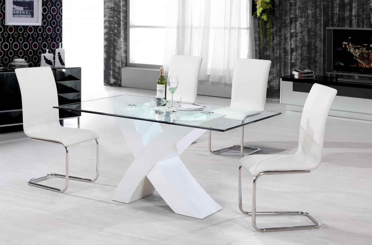 Arizona High Gloss Dining Chair Chrome