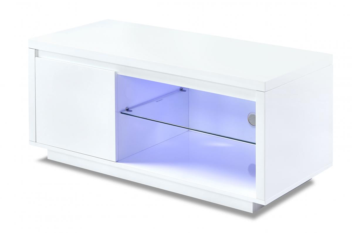 Astana LED TV Unit White High Gloss 1 Door