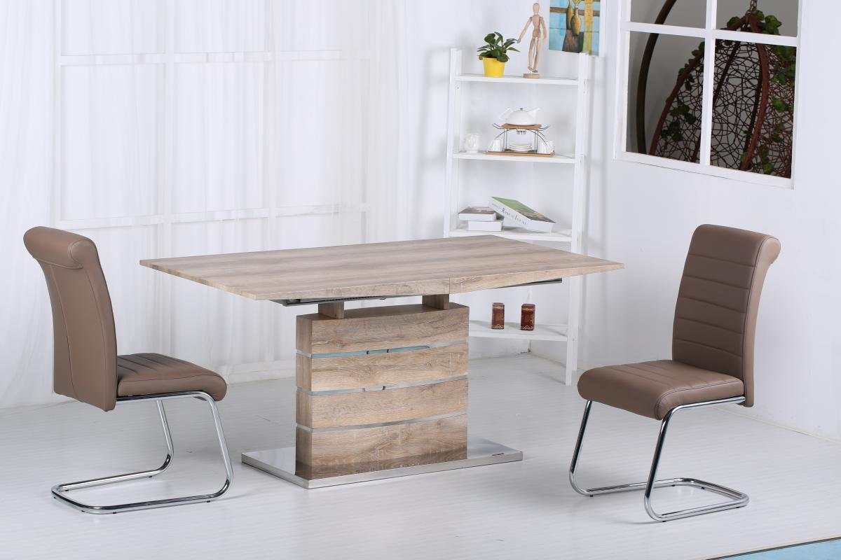 Astra Extending Dining Table with Stainless Steel Base