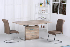 Astra Extending Dining Set with Stainless Steel Base