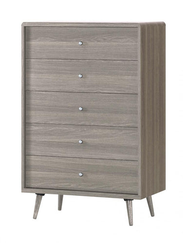 Belvoir Chest 5 Drawer Grey Oak