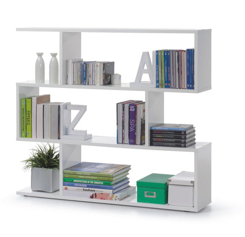 Arctic Bookcase Wide High Shine White