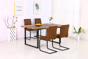 Boston Dining Table Natural & Black
