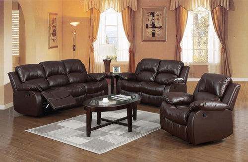 Carlino Recliner Full Bonded Leather 2 Seater Brown