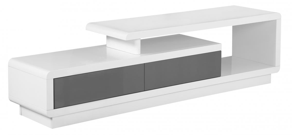 Cavalier High Gloss TV Cabinet White & Grey