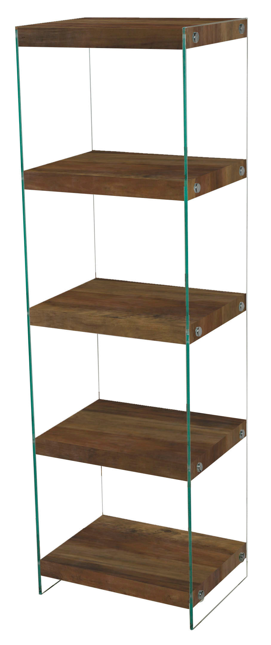 Charter Large Storage Unit Oak Effect & Glass Sides