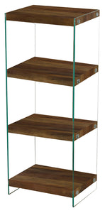 Charter Medium Storage Unit Oak Effect & Glass Sides