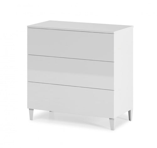 Arctic Chest 3 Drawer High Shine White