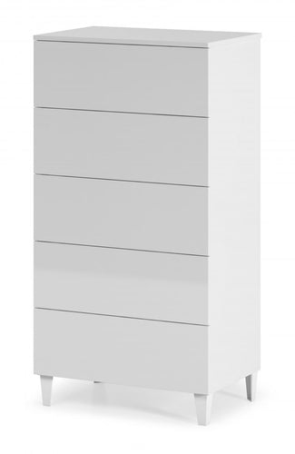 Arctic Chest 5 Drawer High Shine White
