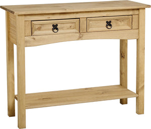 Corona Console Table 2 Drawer with Shelf