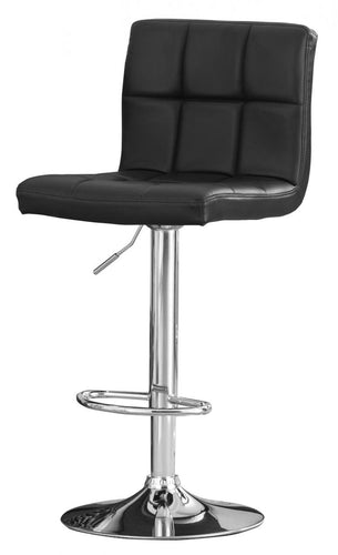 Cubik Bar Stool PU Chrome & Black