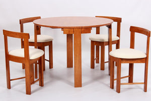 Durham Dining Set with 4 Chairs Colour Oak