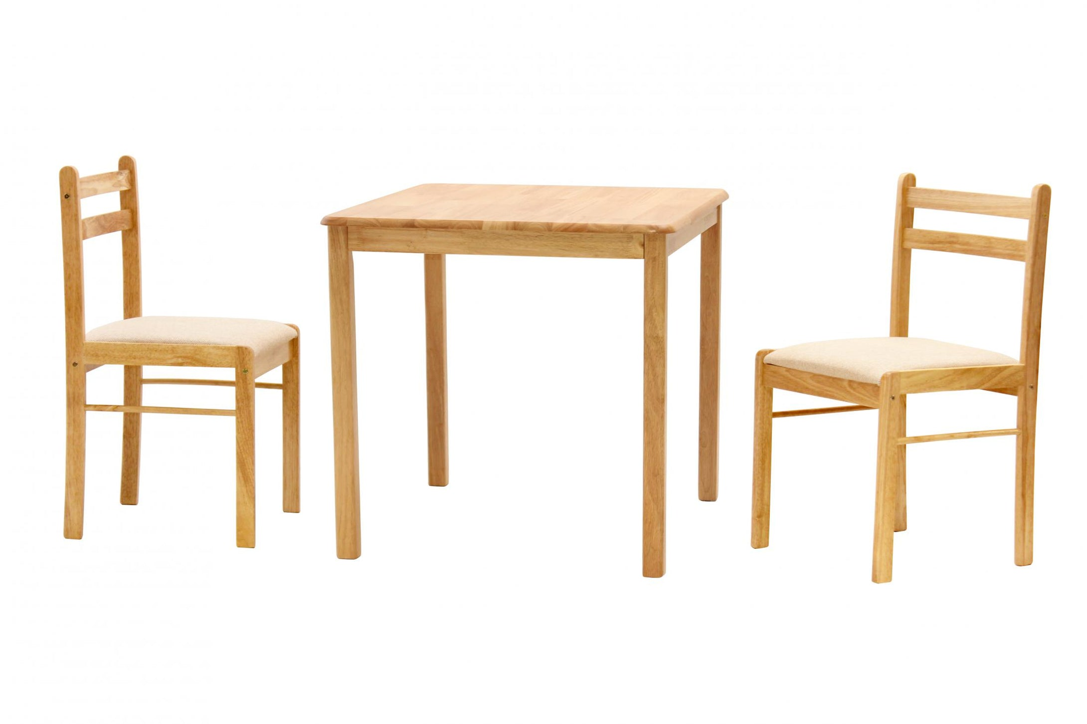 Dinnite Dining Set 2 Chairs Natural