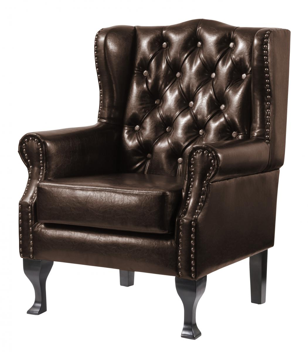 Dorchester PU Arm Chair Brown