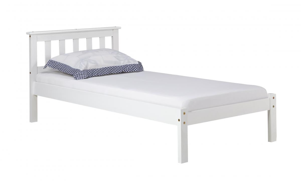 Eccles Pine Bed Single White Wash
