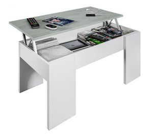 Epping Coffee Table Lift-Up White & Concrete 0L1640A