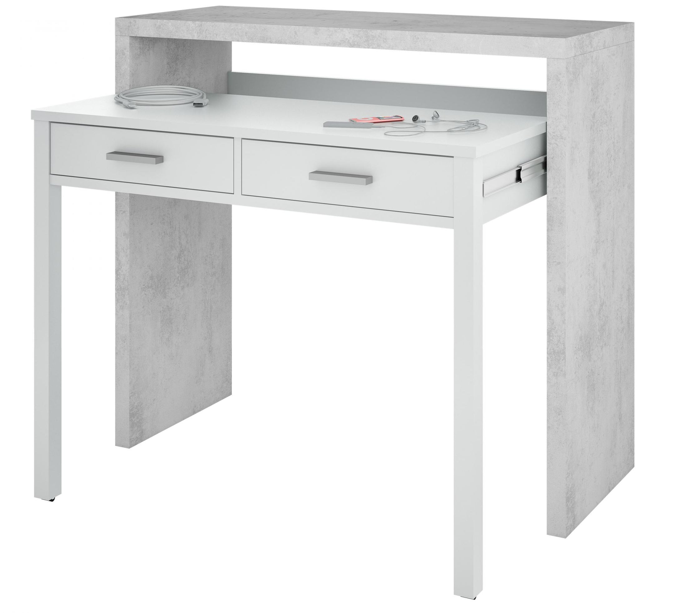 Epping Desk Pull Out White & Concrete 0L4582A