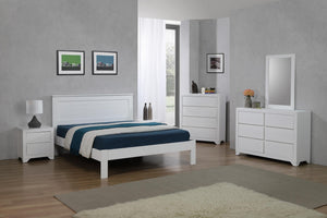 Etna Double Bed White