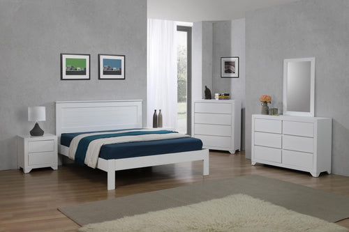 Etna 4 Foot Bed White