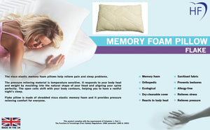 Memory Foam Pillow Flake