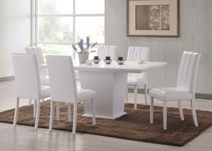 Feather Dining Table White