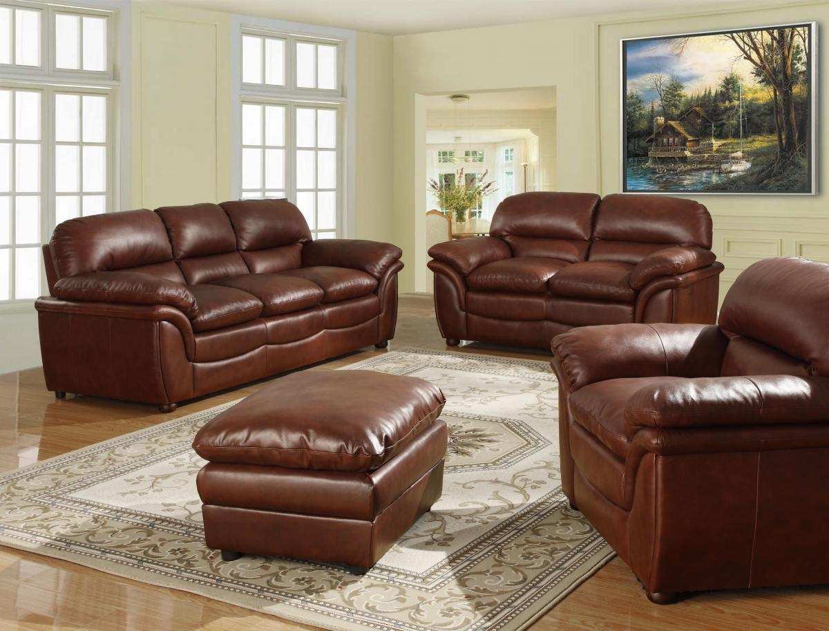 Fernando Sofa Full Bonded Leather 2 Seater Brown