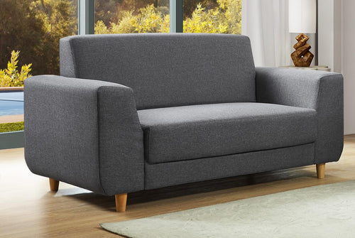 Fida Fabric 2 Seater Sofa Dark Grey