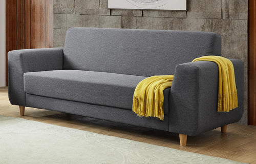 Fida Fabric 3 Seater Sofa Dark Grey