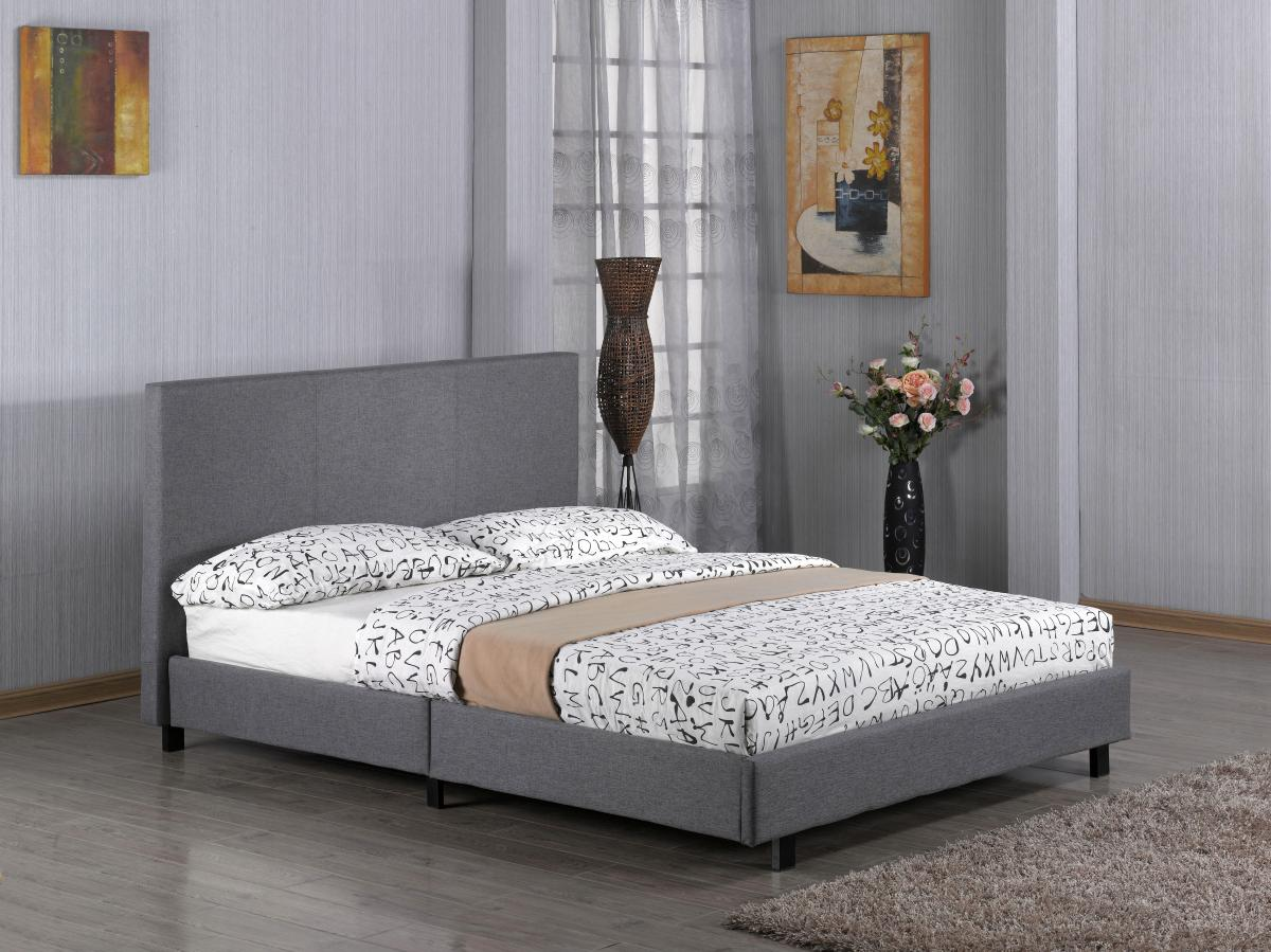 Fusion Fabric King Size Bed Grey