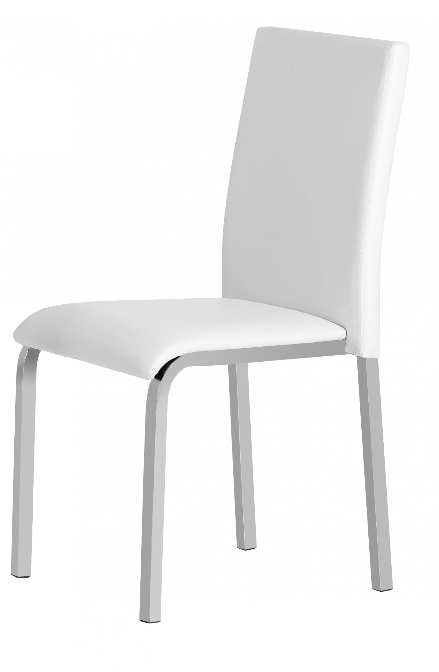 Gamma PVC Chair White & Chrome