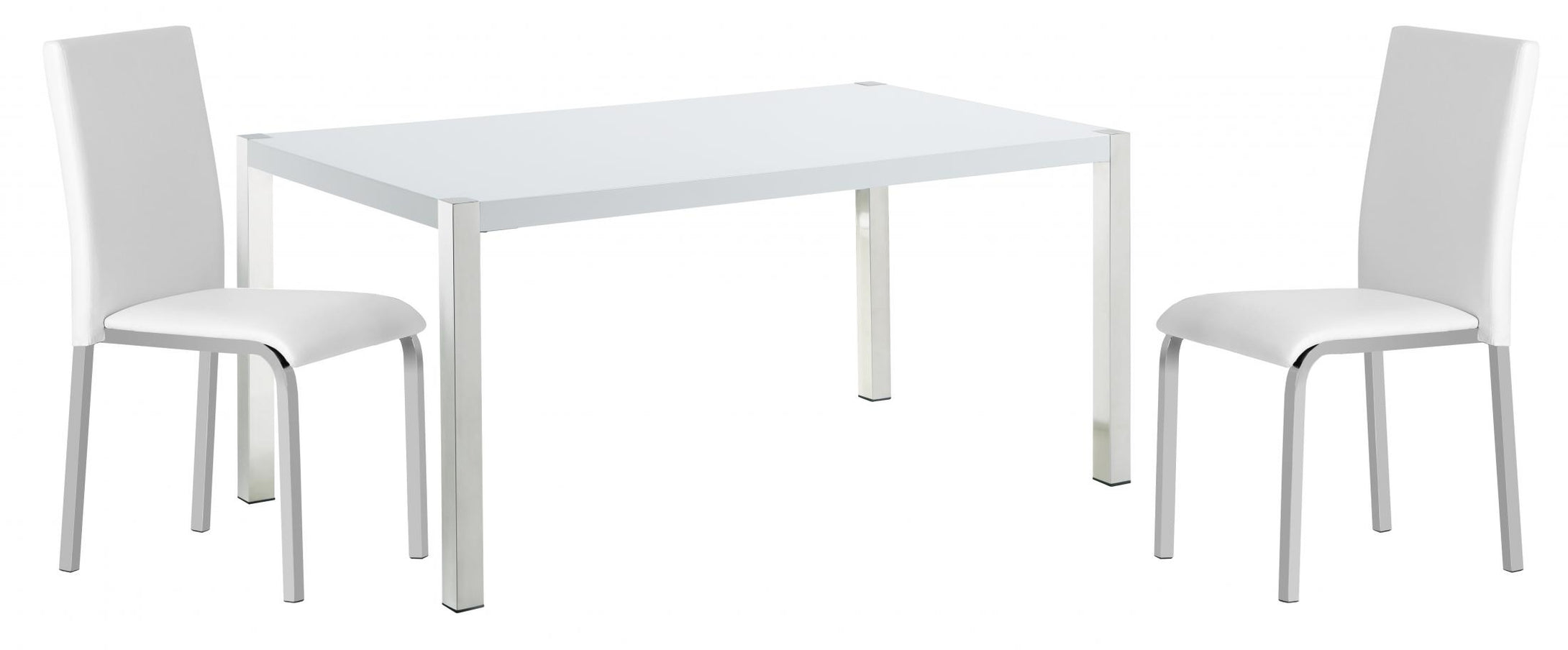 Gamma Dining Table White High Gloss