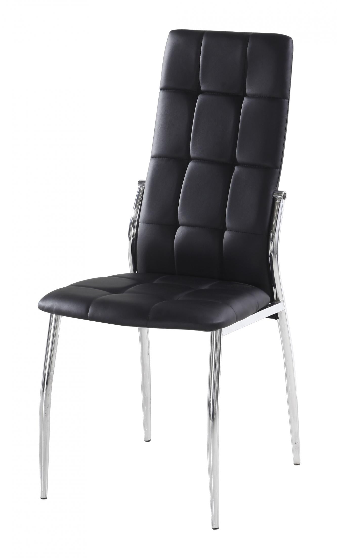 Georgia PU Chairs Chrome & Black (2s)