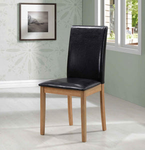 Healey PU Solid Rubberwood Chair