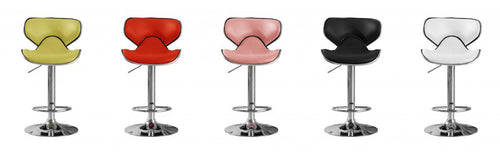 Hillside Bar Stool PU Chrome (2s)