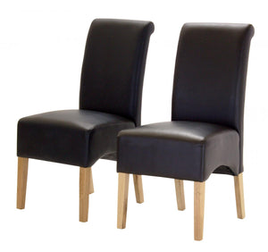 Hilton PU Chair with Oak Legs