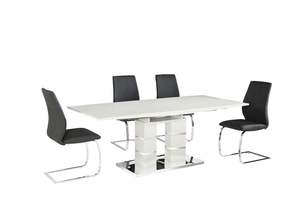 Janelle PU Chairs Chrome & Black (2s)