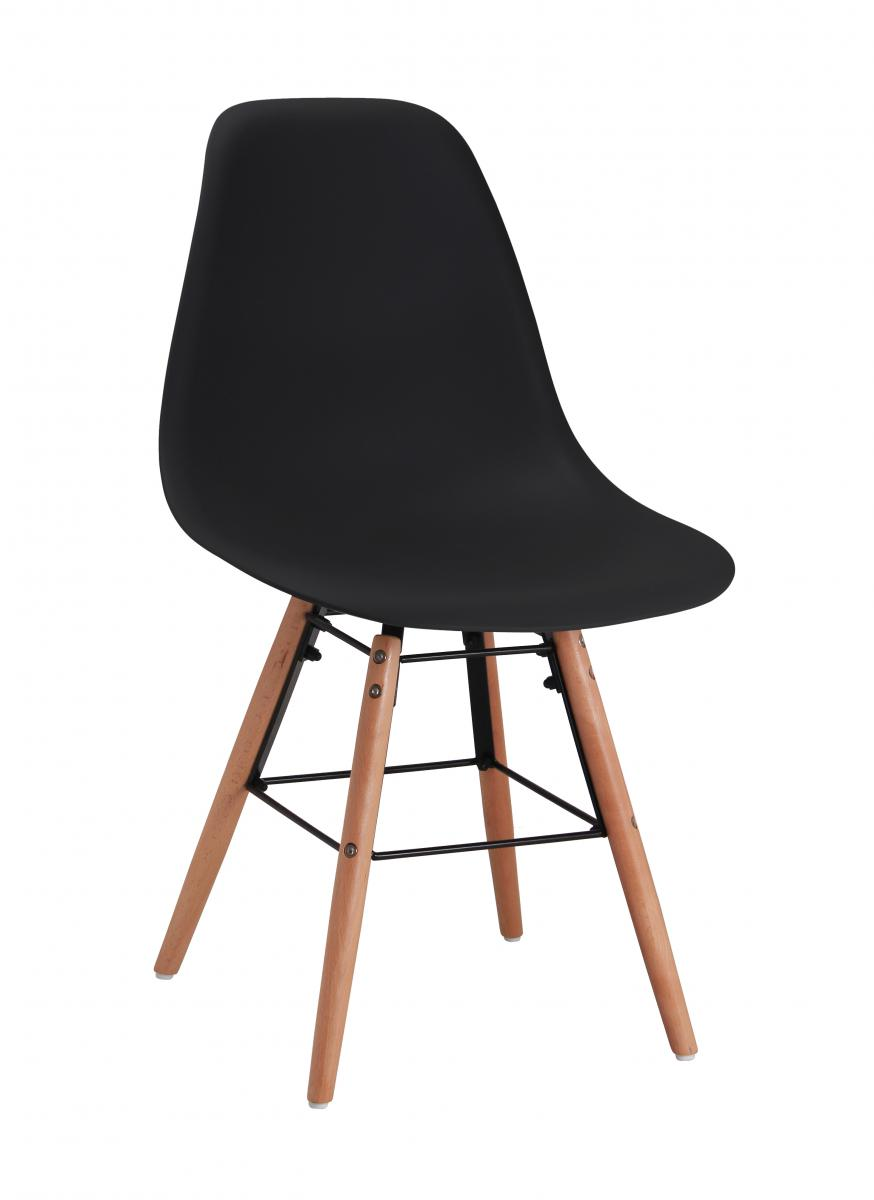 Kelby Plastic (PP) Chairs with Solid Beech Legs
