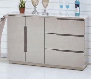 Knightsbridge High Gloss Sideboard Cappuccino