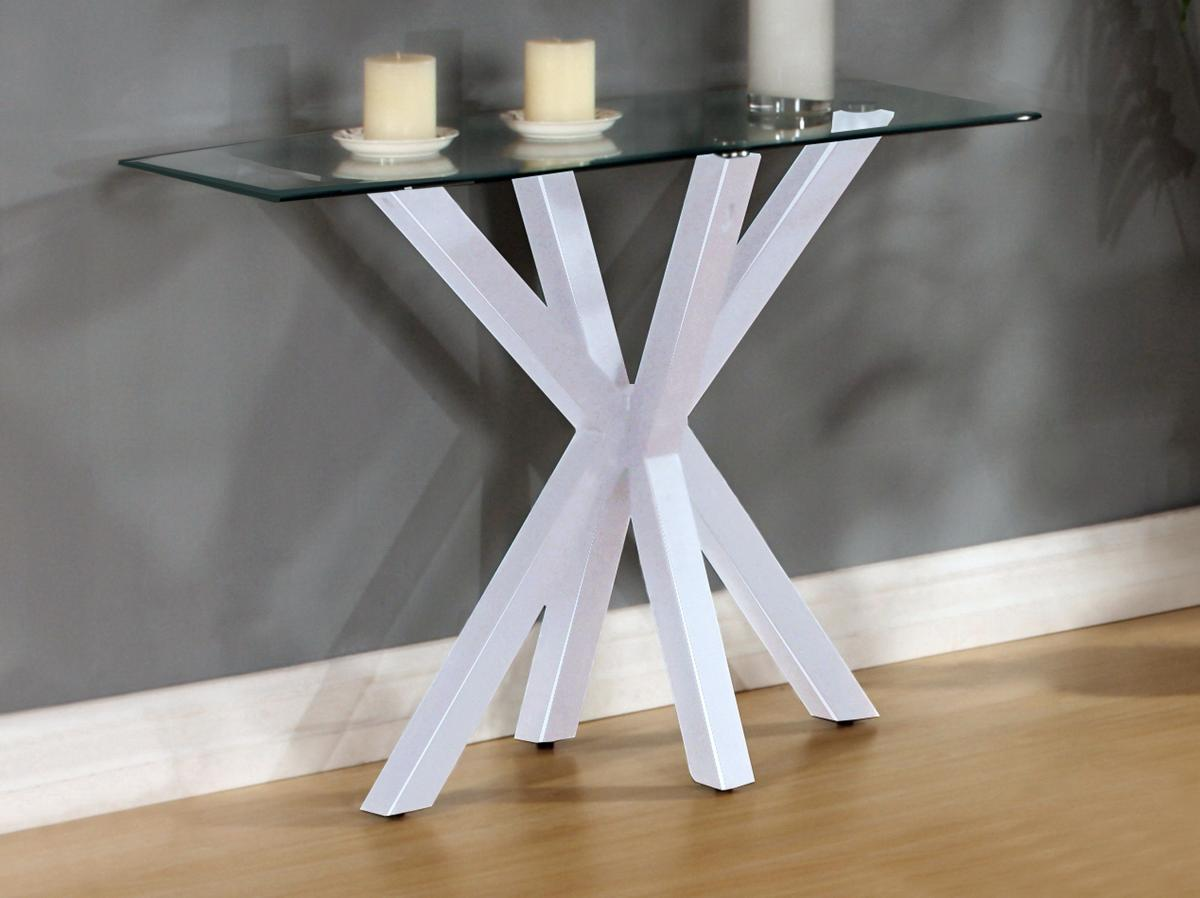 Langley Gloss Console Table White