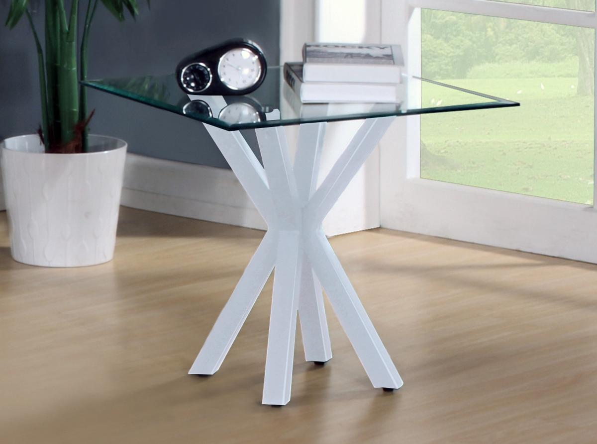 Langley Gloss Lamp Table White
