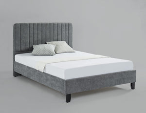 Livingstone Fabric Double Bed Grey