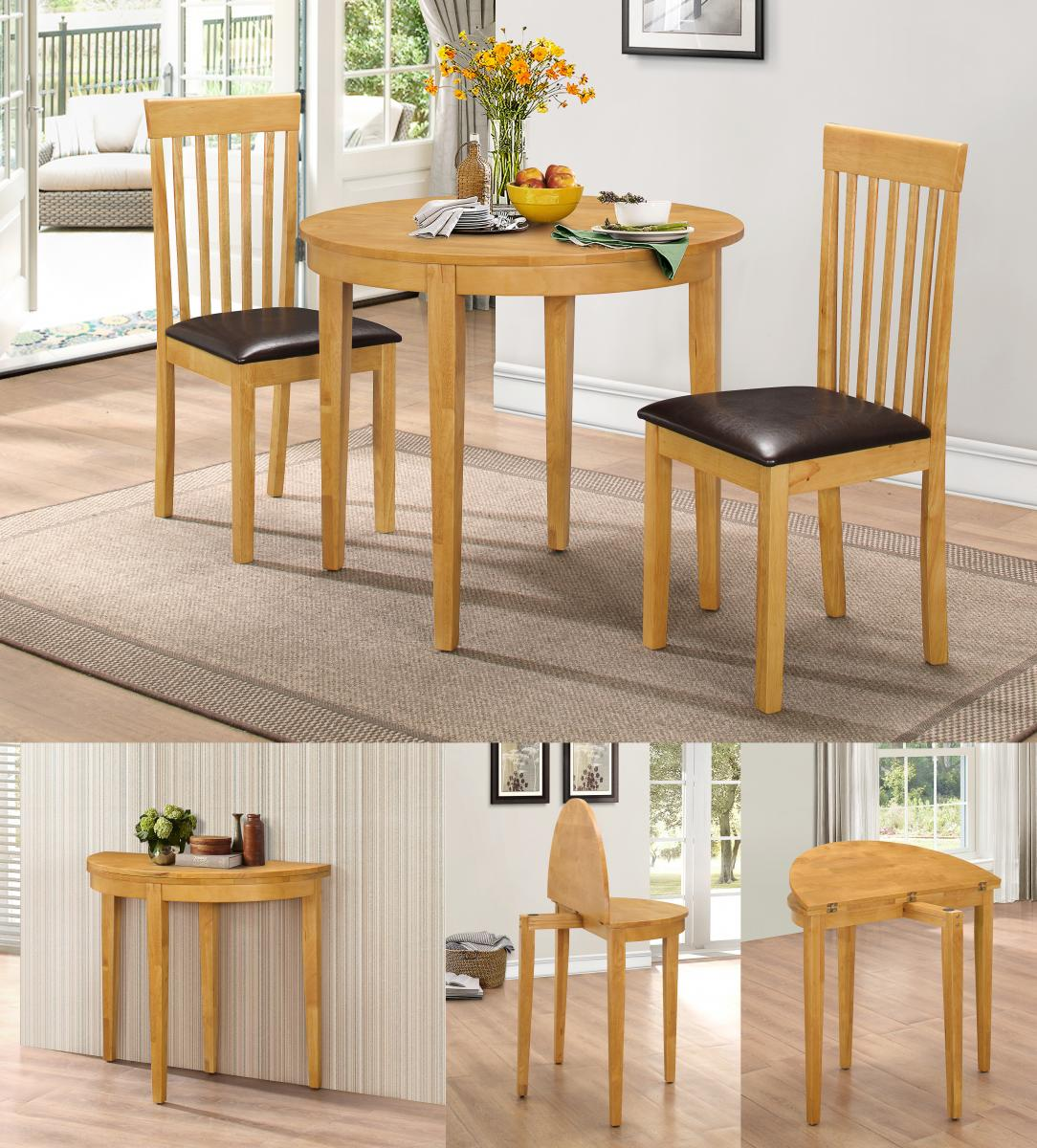 Lunar Dining Set with 2 Chairs