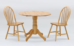 Madison Drop Leaf Dining Set with 2 Chairs Natural