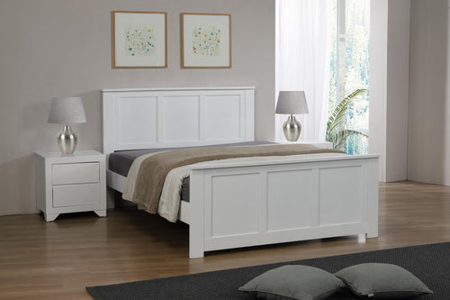 Mali 4 Foot Bed White