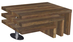 Mansfield Coffee Table Oak Effect & Stainless Steel