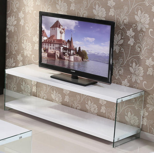Marco White High Gloss & Glass TV Unit