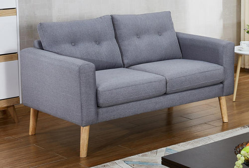 Megan Fabric 2 Seater Sofa Grey