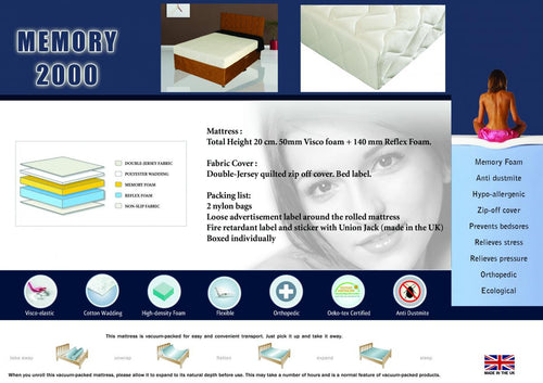 Memory 2000 Mattress King Size