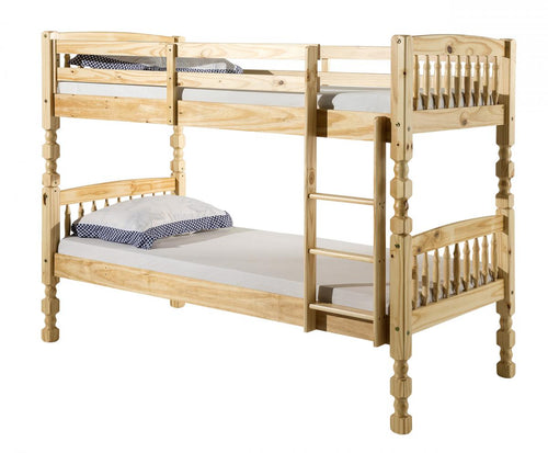Milano Pine Bunk Bed Light Antique