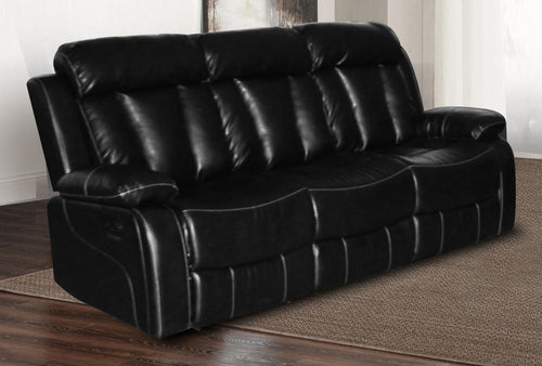 Ohio Recliner Bonded Leather & PU 3 Seater